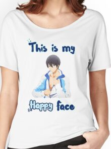 Haruka Nanase - 'This is my Happy Face' Women's Relaxed Fit T-Shirt