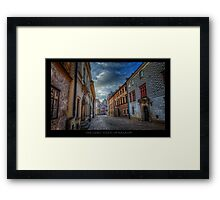 Krakow Streets in Colors - HDR Framed Print