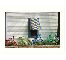 Bicycle Rainbow Art Print