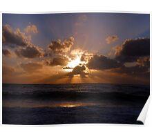 Sunset over Seven Mile Beach, Grand Cayman, Caribbean Poster