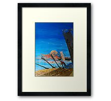 The dimension on changes Framed Print