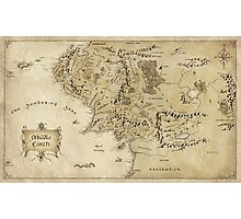 Middle Earth Map Photographic Print