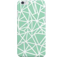 Abstraction Outline Thick Mint iPhone Case/Skin