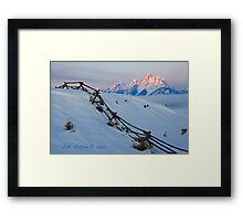 Running Buck & Rail, First Light on the Grand Framed Print