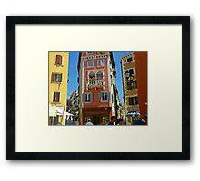 The Pastel Colours of Rovinj Framed Print