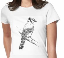 Bluejay Ink Illustration Womens Fitted T-Shirt