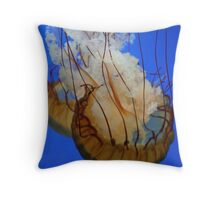 Jelly Fish In Red and Orange Throw Pillow