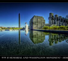 A new look to the WWII Memorial, Washington DC by capturedjourney