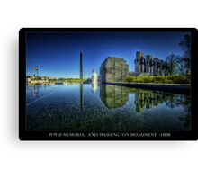 A new look to the WWII Memorial, Washington DC Canvas Print