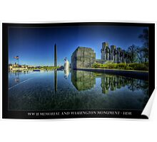 A new look to the WWII Memorial, Washington DC Poster