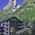 Zermatt, Switzerland And The Matterhorn by Monica Engeler