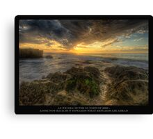 SUNSET in HDR Canvas Print