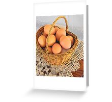 Eggs in a Basket Greeting Card