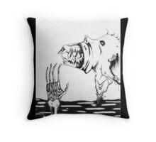 Discharging The Monster Throw Pillow