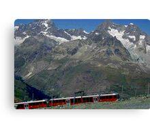 Gornergrat Train Zermatt Switzerland Canvas Print