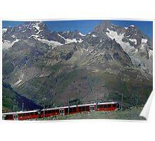 Gornergrat Train Zermatt Switzerland Poster