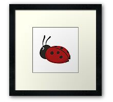 Cartoon Ladybug Framed Print