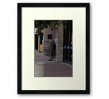 Street person Known as Chicago Framed Print