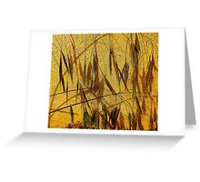 Grasses On Yellow....................Most Products Greeting Card