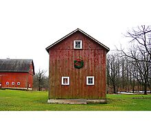 Christmas Barn Photographic Print