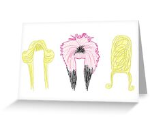 Wig In A Box  Greeting Card