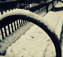 Snowy Seat - New York City by mackography