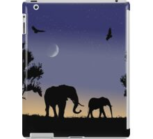 elephants at dawn iPad Case/Skin