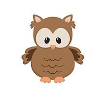 Cartoon Owl Photographic Print