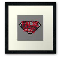 Batman Vs Superman - False God Framed Print