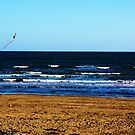 Kite Flying On The Beach by DarrynFisher