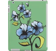 Blue watercolor flowers iPad Case/Skin