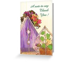 A Note to Say Thank You! Greeting Card