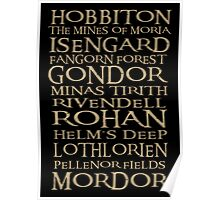 The Journey from Hobbiton to Mordor Poster