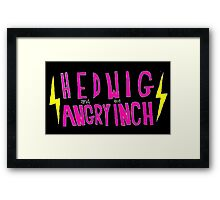 Hedwig and the Angry Inch (Pink Logo/Lightning Bolts) Framed Print