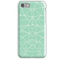 Abstract Mirror Mint iPhone Case/Skin