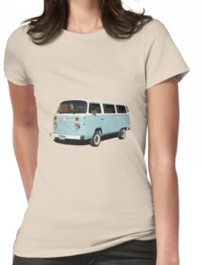 vintage blue van Womens Fitted T-Shirt