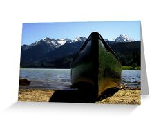 Mountain Peaks in Canada Greeting Card
