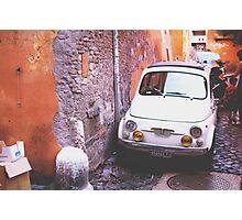 Oldschool Fiat 500 Photographic Print