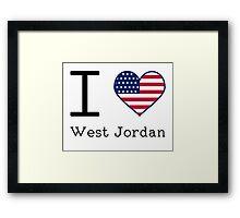 I love West Jordan Framed Print