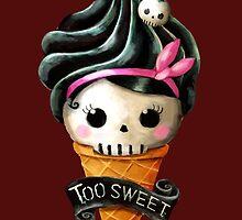 Hallowwen Skull Ice Cream by colonelle