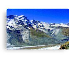 Gornergrat range Zermatt Switzerland Canvas Print