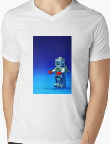 Robbie the Robot Mens V-Neck T-Shirt