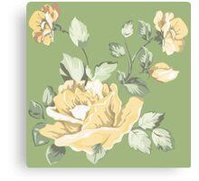 Vintage watercolor yellow flower Canvas Print