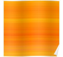 Carrot Orange Stripes Poster
