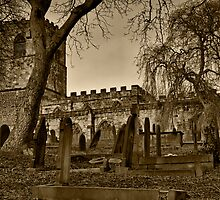 All Saints Church Monotone by Andy Smith
