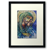 HOLLY MOTHER MARY(SKETCH)(2011) Framed Print