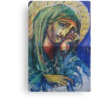 HOLLY MOTHER MARY(SKETCH)(2011) Canvas Print