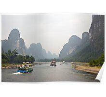 Cruising the Li River Poster