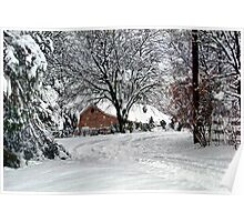 Stopping by Woods on a Snowy Morning Poster