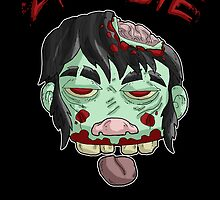zombie music(less) print... by kangarookid